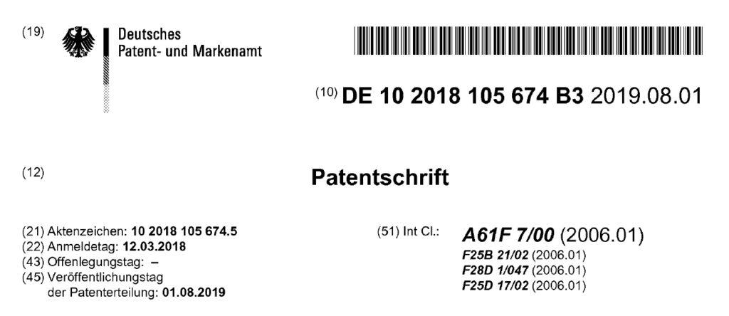 Patent DE10 2018 105 674 B3